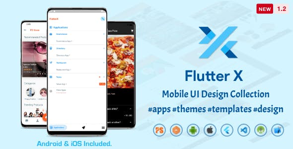 FlutterX (Flutter UI Kits Widgets and Template Collection For iOS & Android) 1.2