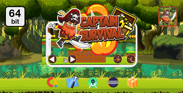 Captain Survival 64 bit - Android IOS With Admob