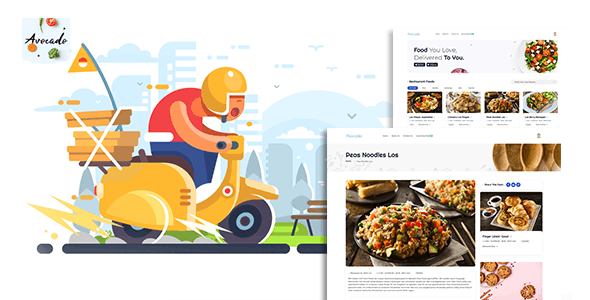 Avocada - Food Delivery Restaurant script Template