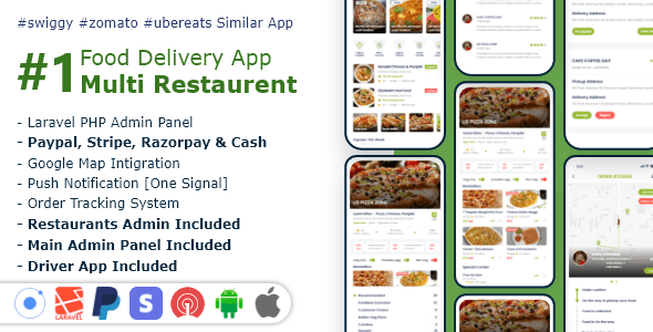 Food, Grocery, Meat Delivery Mobile App with Admin Panel - CodeCanyon Item for Sale