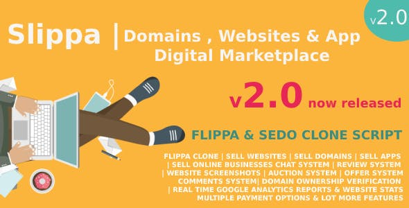 Slippa - Domains,Website & App Marketplace PHP Script