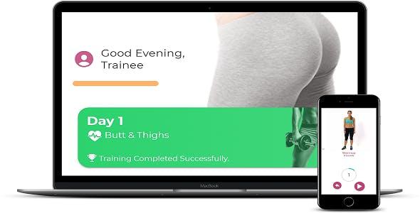 IONIC 4 Fitness App - 30 Days Butt Challenge