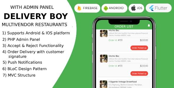 Delivery Boy + Flutter For Multivendor Stores + Multi Languages - CodeCanyon Item for Sale