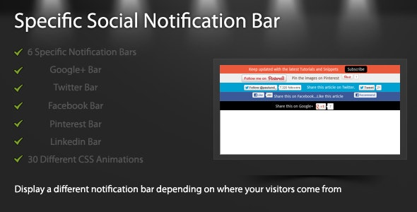 Specific Social Notification Bar - CodeCanyon Item for Sale
