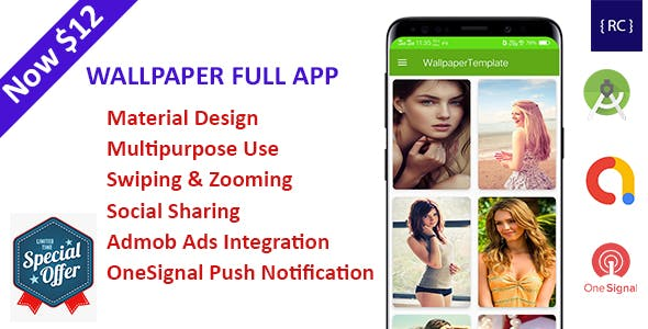 HD Wallpaper Multipurpose Android App With CMS Admin Panel