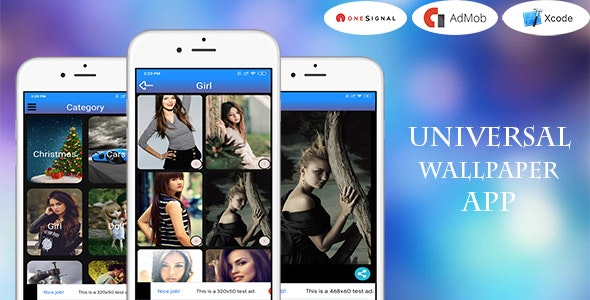 Universal Wallpaper App With Admin panel (iOS app and Swift 5) - CodeCanyon Item for Sale