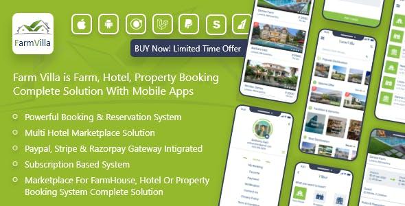 FarmVilla - Farm, Property, Resort Booking Marketplace Solution With Admin panel
