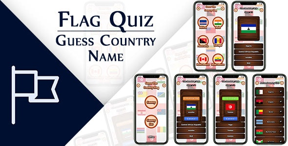 Flag Quiz Guess Country Name IOS (Swift) - CodeCanyon Item for Sale