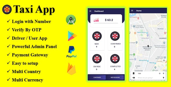 Cander Taxi Cab App | A Complete Solution | Payment Gateway | Login with OTP