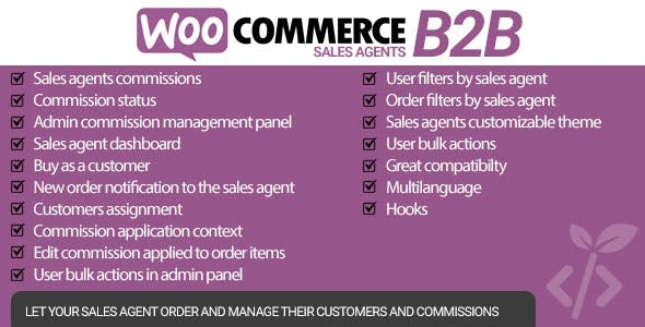 WooCommerce B2B Sales Agents