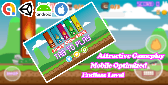 Angry Cube Sticks - Unity Android Game Template