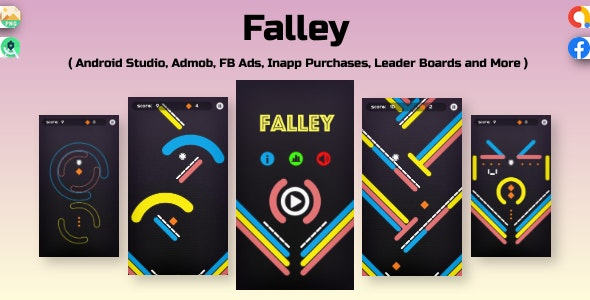 Falley : Android Studio + Admob + Facebook ads + Ready to Publish