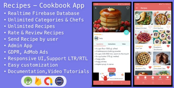 Recipes - Cookbook App for Android
