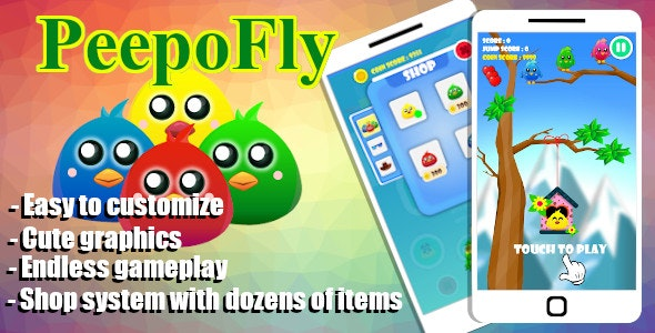 Peepo Fly Game - Unity Project With Admob Ad for Android and iOS - CodeCanyon Item for Sale