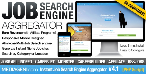 Instant Job Search Engine Aggregator - CodeCanyon Item for Sale
