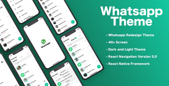 Whatsapp Redesign Theme - React Native