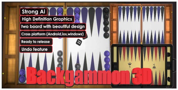 Backgammon 3D Unity Complete Project