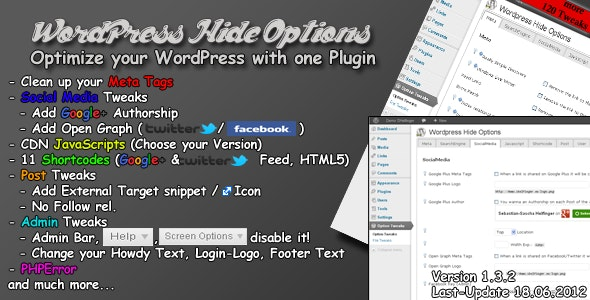 Wordpress Hide Option - CodeCanyon Item for Sale
