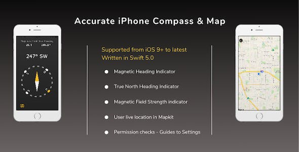 Accurate iPhone Compass & Map