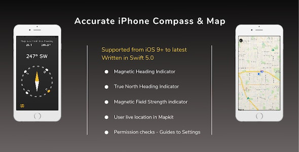 Accurate iPhone Compass & Map - CodeCanyon Item for Sale