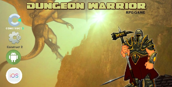 Dungeon Warrior Construct 2 - Construct 3 CAPX Game - CodeCanyon Item for Sale