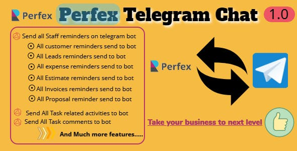 Perfex CRM and TelegramBot Chat Module