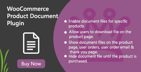 WooCommerce Product Document Plugin
