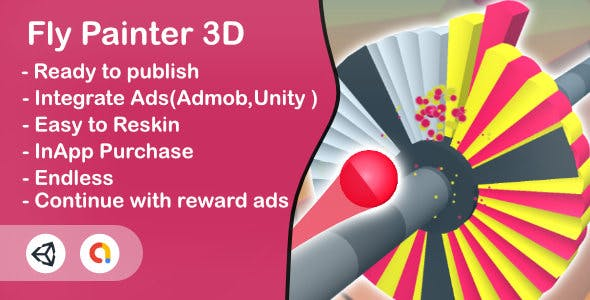 Fly Painter 3D(Unity Game+Admob+Android+iOS)