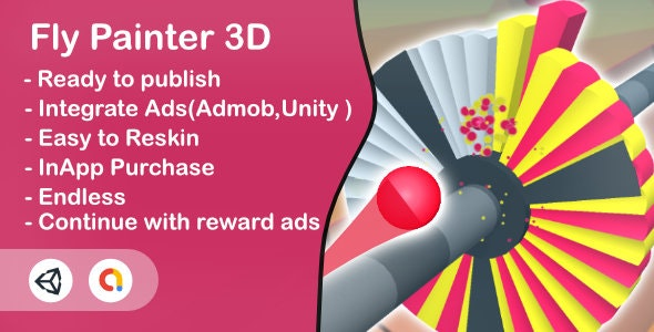 Fly Painter 3D(Unity Game+Admob+Android+iOS) - CodeCanyon Item for Sale