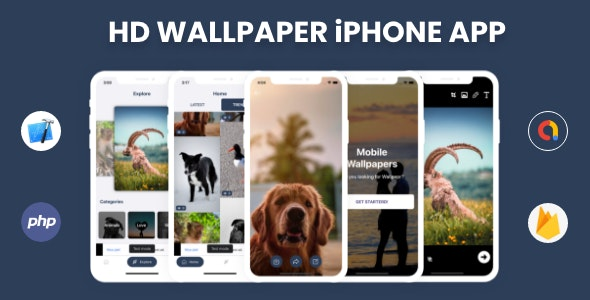 HD Wallpaper - iPhone App with Admin Panel - CodeCanyon Item for Sale