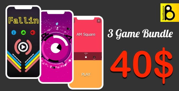 Trending Hypercasual 3 Game Bundle ( Android Studio + Admob + Facebook Ads + Ready to Publish)