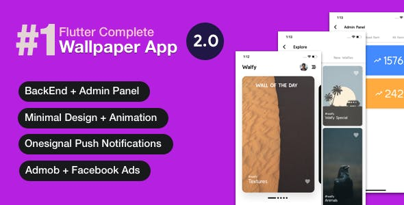 Flutter Wallpaper App - Backend+ Admin Panel (Full App)