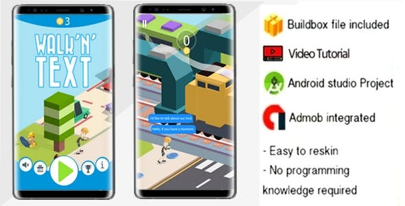Walk N Text game  Buildbox 2.2.3 High quality
