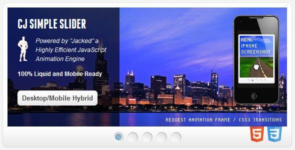 SimpleSlider - Desktop/Mobile Hybrid