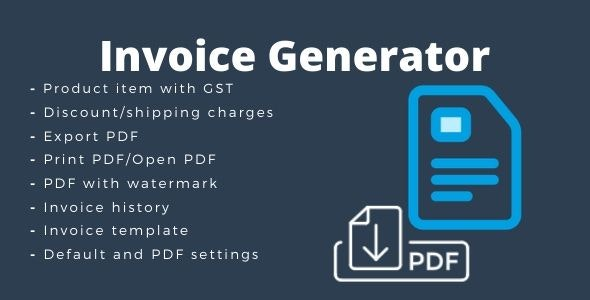Invoice Generator - CodeCanyon Item for Sale