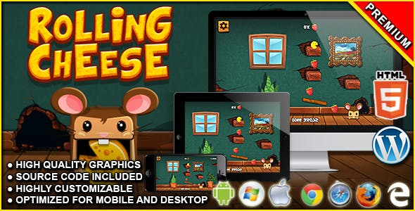 Rolling Cheese - HTML5 Physics Game
