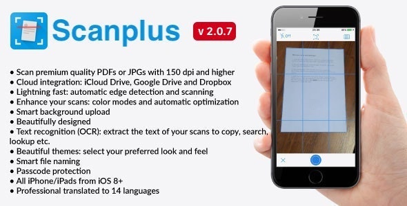 [White Label] Scanplus PRO - iOS PDF Document Scanner App - CodeCanyon Item for Sale