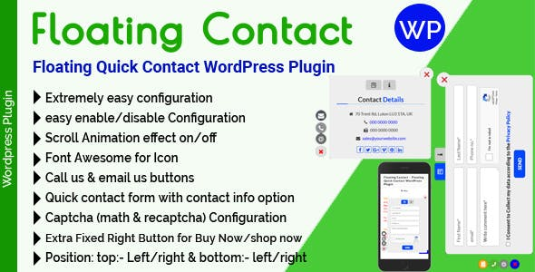Floating Contact - Floating Quick Contact WordPress Plugin