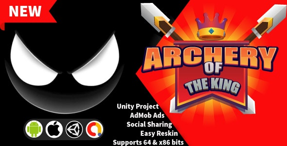 Archery of The King - Unity Game Project + Admob + Gdpr