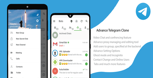 Telegram Clone with advance feature