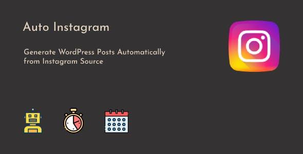 Instagram to WordPress Posts Automatic
