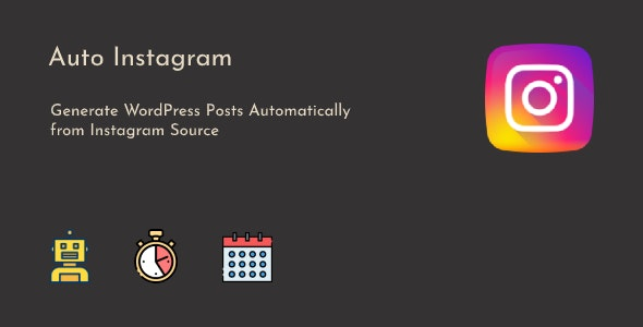 Instagram to WordPress Posts Automatic - CodeCanyon Item for Sale