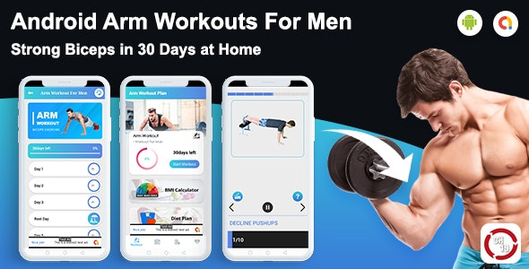 Arm  Workout For Men(30 days Workout Plan) - CodeCanyon Item for Sale