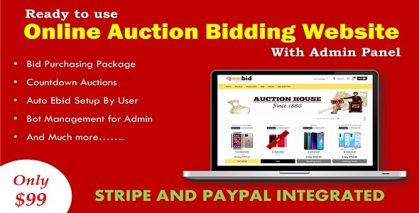 Online Auction Bidding Website In Asp Net By Amtechnology Codecanyon