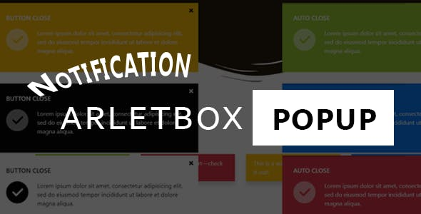 Notification Arlet-box  modal popup