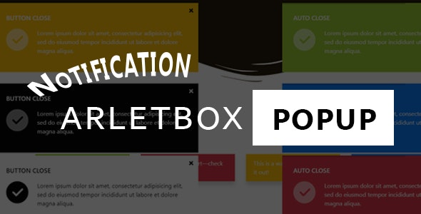 Notification Arlet-box  modal popup - CodeCanyon Item for Sale