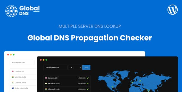 Global DNS - Multiple Server - DNS Propagation Checker - WP