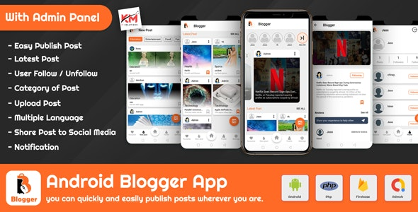 Android Blogger App - Blog & News Add by Author With Admin Panel - CodeCanyon Item for Sale