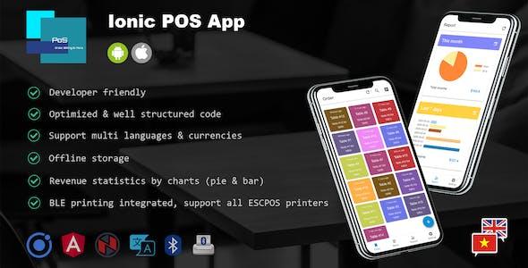 Ionic POS App - Manage Orders, Menu Items & Print Bills