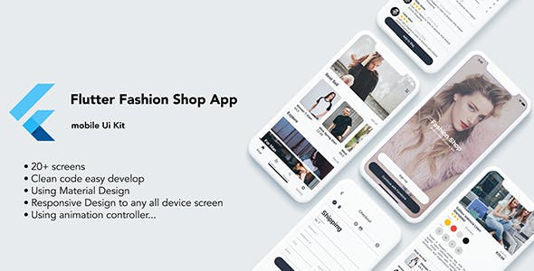 Flutter Fashion Shop App - UI KIT